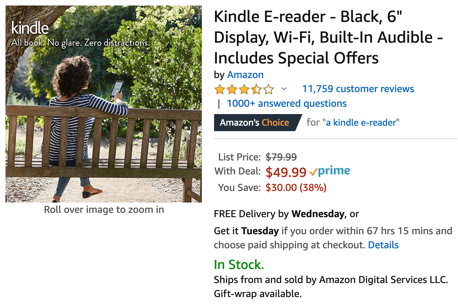 Amazon's on-again-off-again $30 Kindle discount is back on