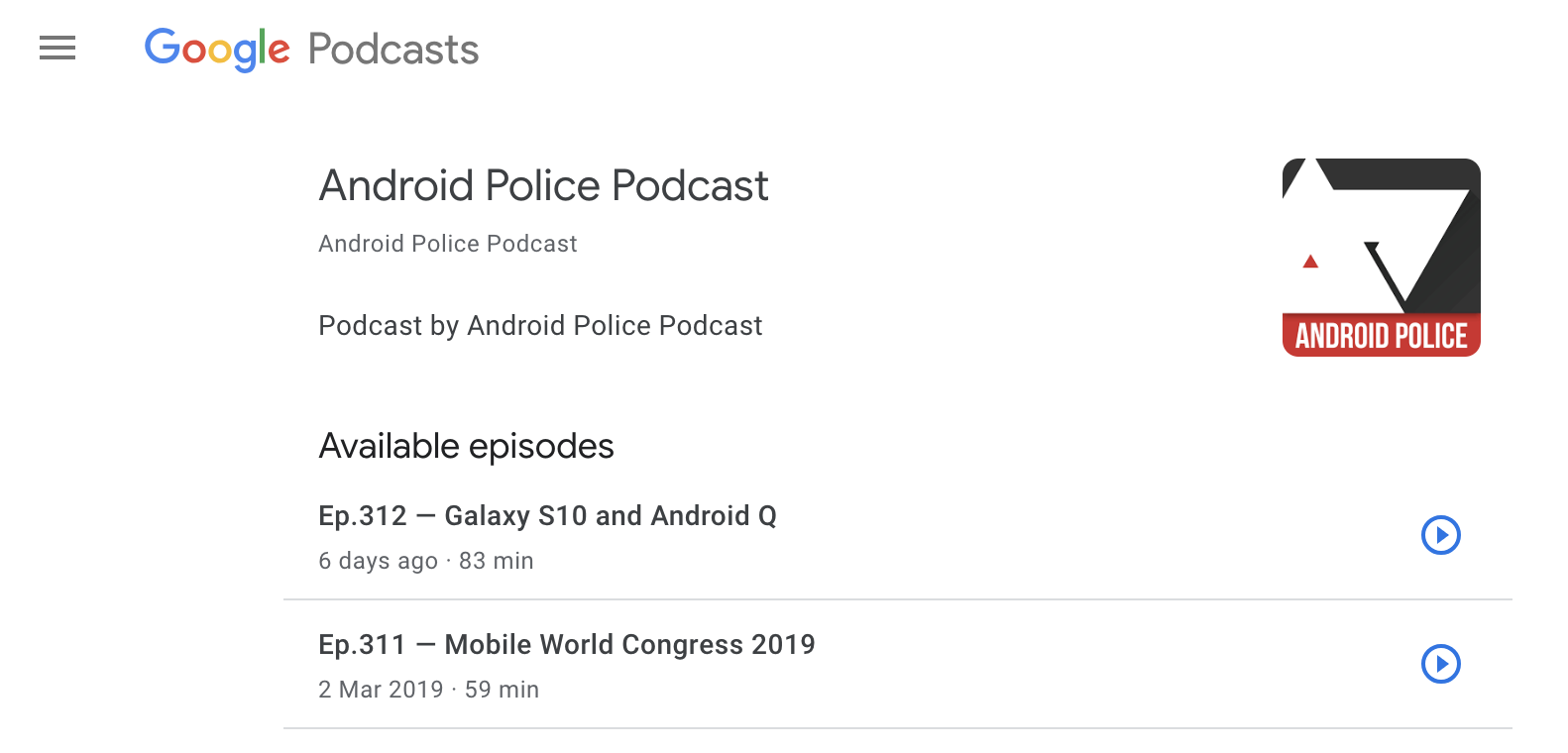 You can listen to Google Podcasts on the web with a simple URL edit