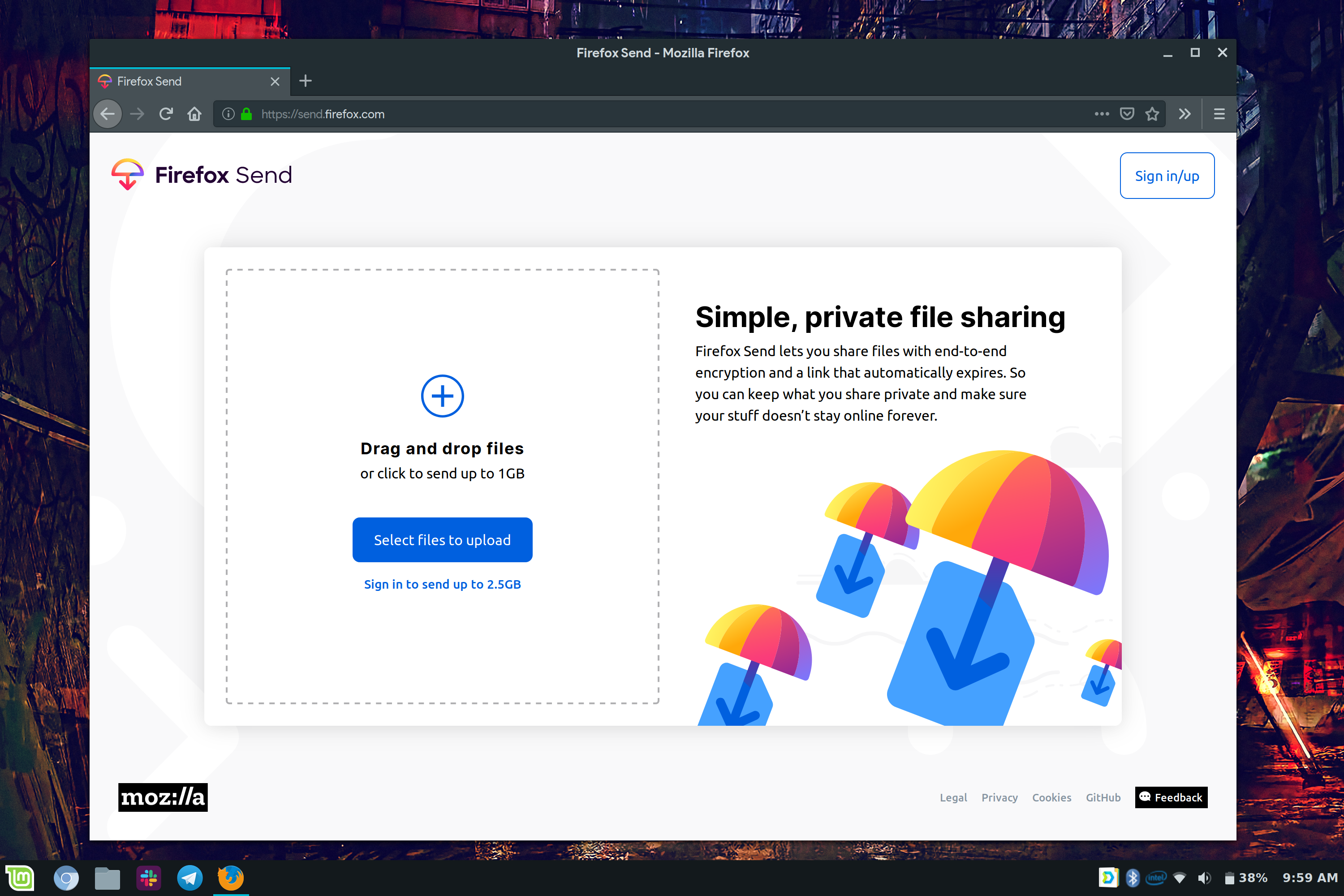 Firefox Send lets you share 1GB files with no strings attached