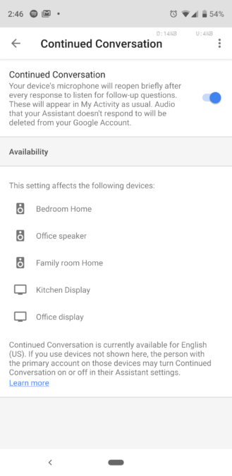 Update: Google announcement] Continued Conversation is
