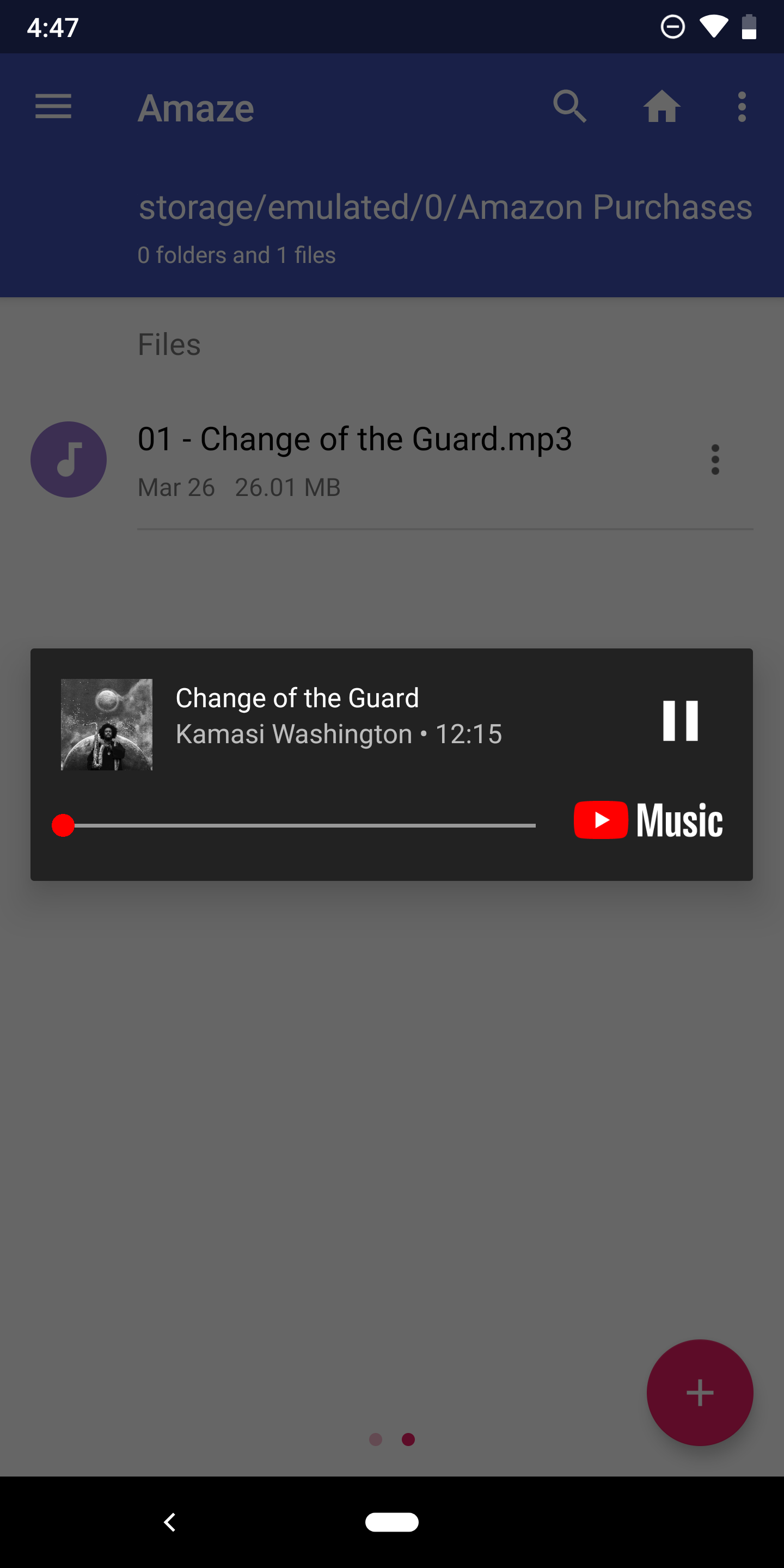 YouTube Music can now act as a media player for files stored