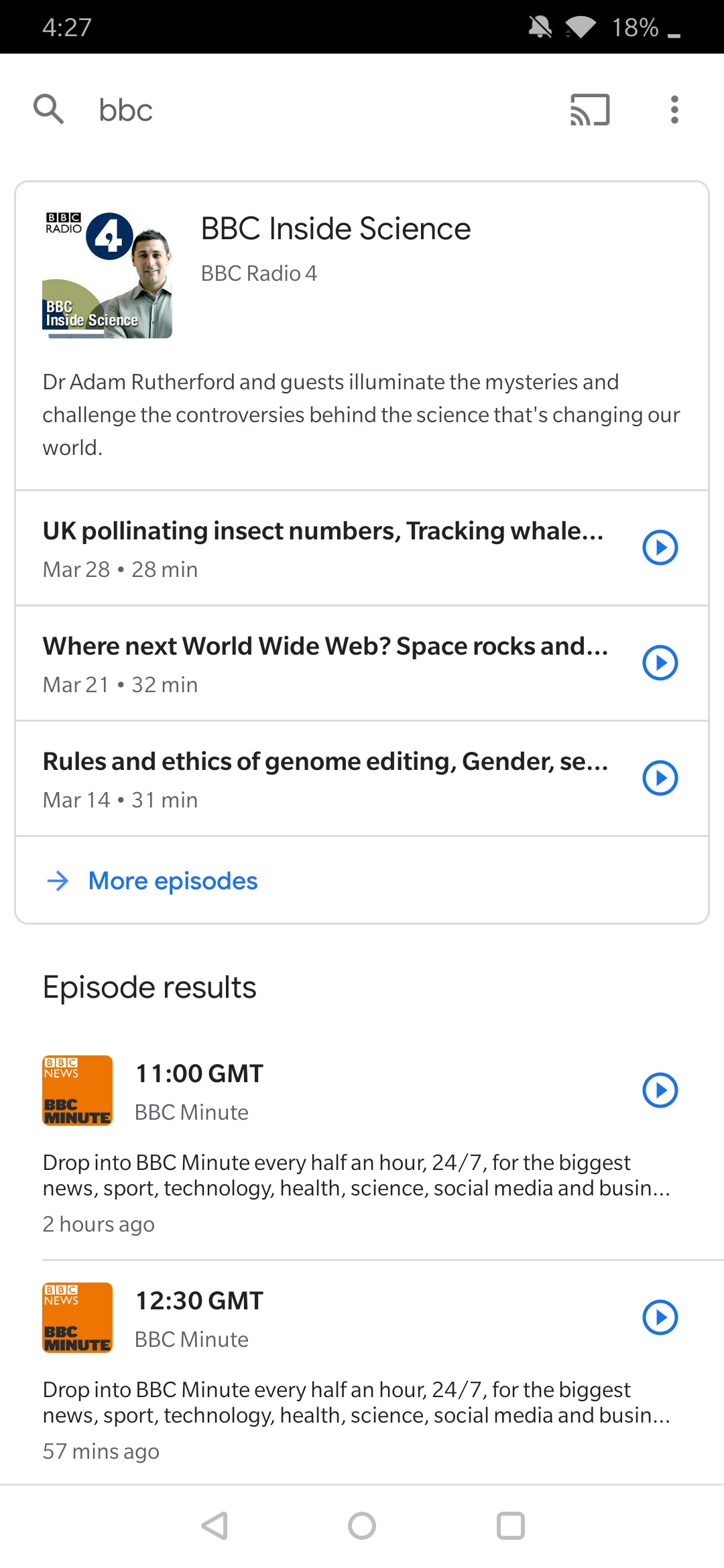 Update: It's back] BBC blocks its content from Google Podcasts