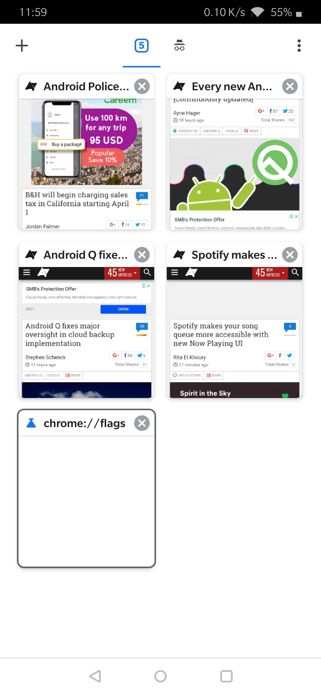 Update: Now in Stable] Chrome tests a grid layout for the