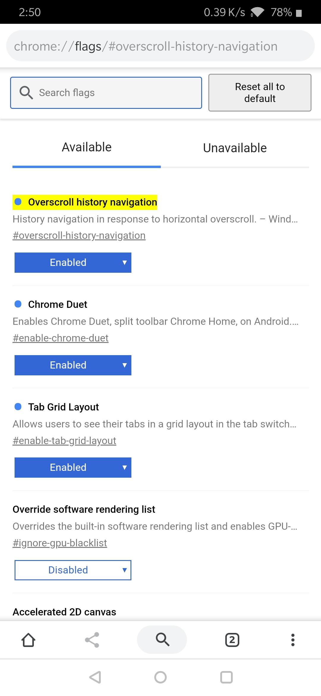 Chrome gets swipe gestures to navigate back or forward
