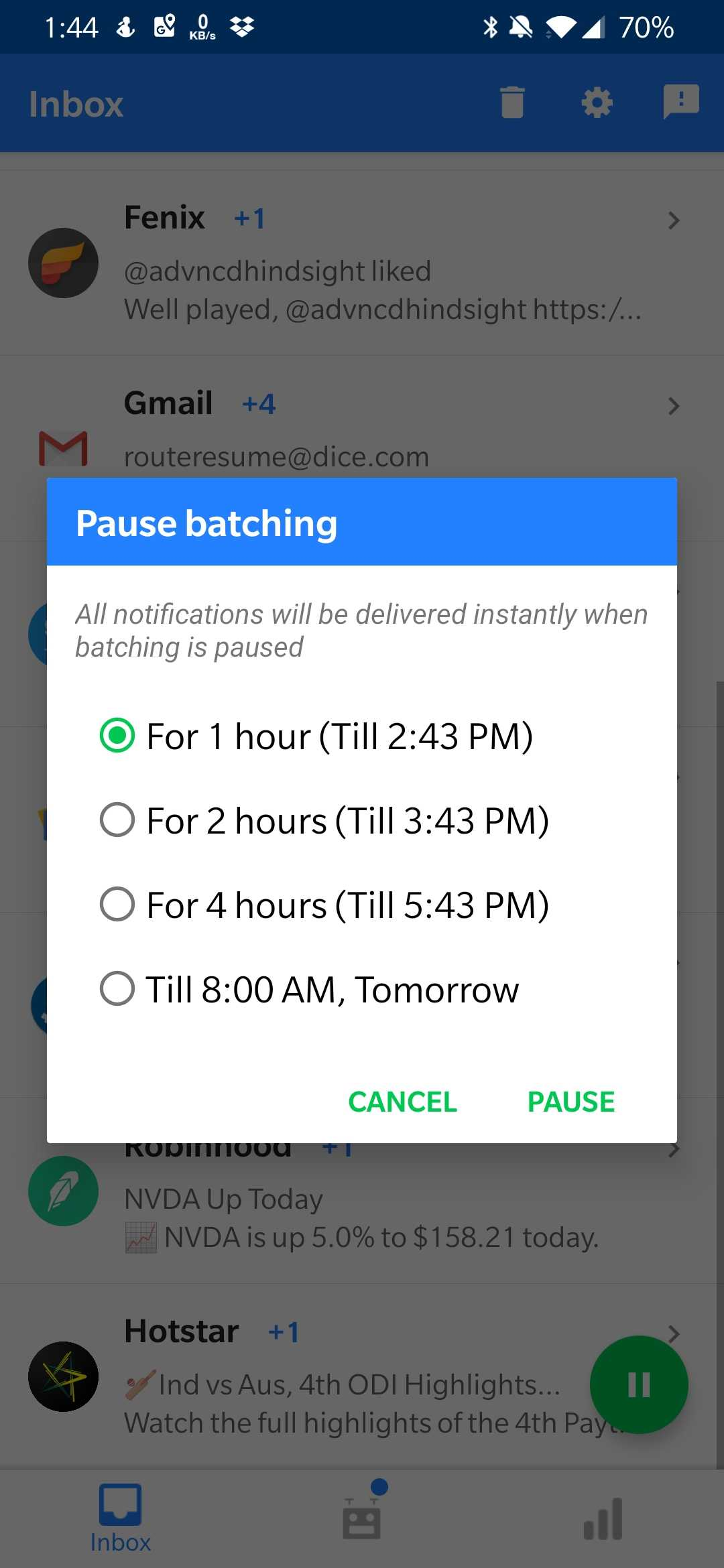 Daywise schedules your notifications to help you chill out