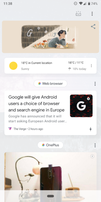 Update: More] Animated Google Doodle shows up in homescreen