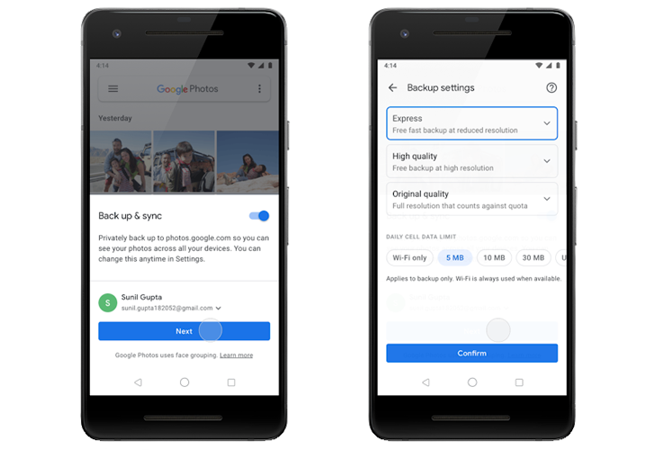 google photos ahorrar datos backups
