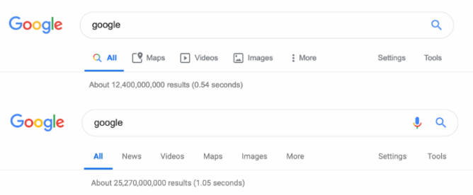 Google tests Material Theme icons for desktop search menu