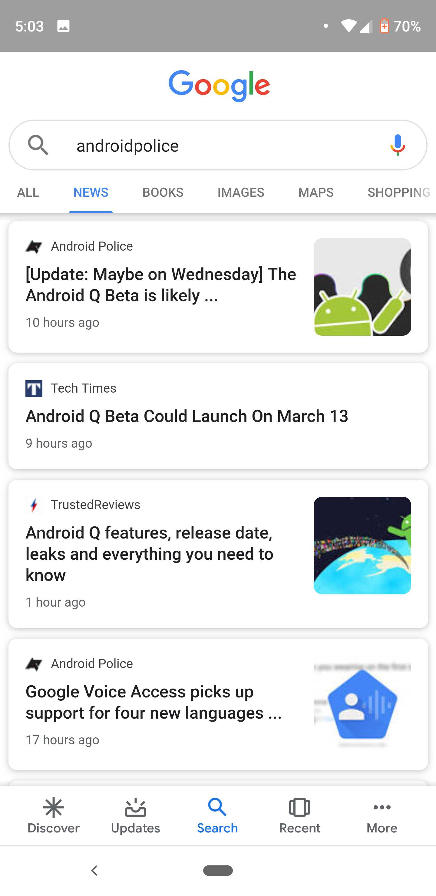 Google Search news results get a Material Design refresh