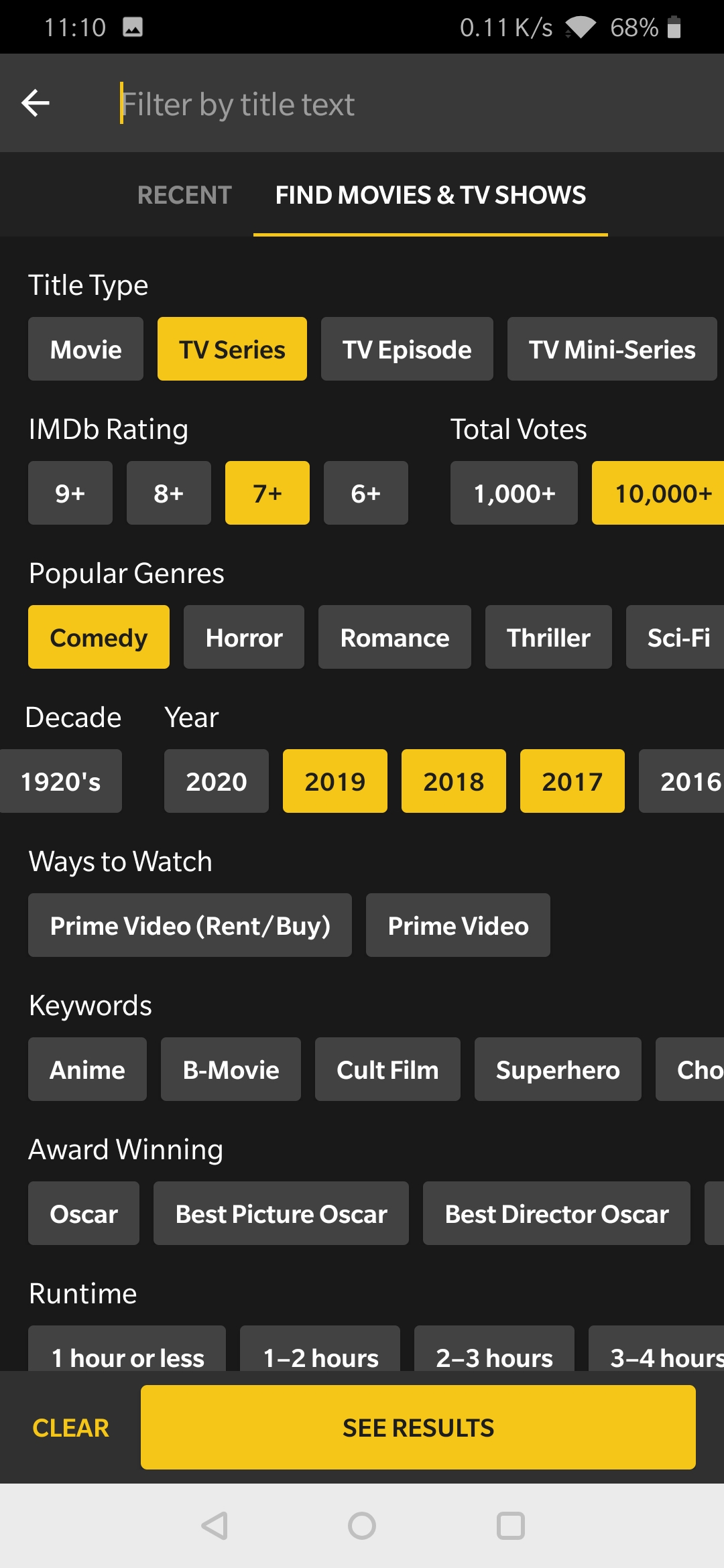 IMDb's new filters help you find the exact movies or TV series you