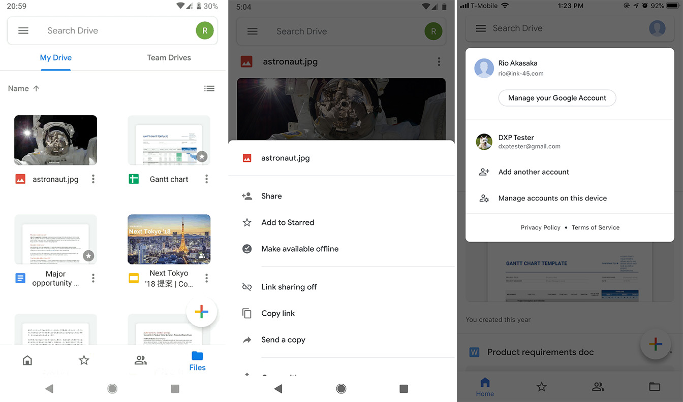 google drive download location android