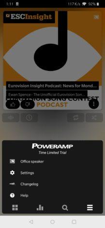 Poweramp  يضيف دعم Chromecast والأوامر الصوتية لـ Google Assistant