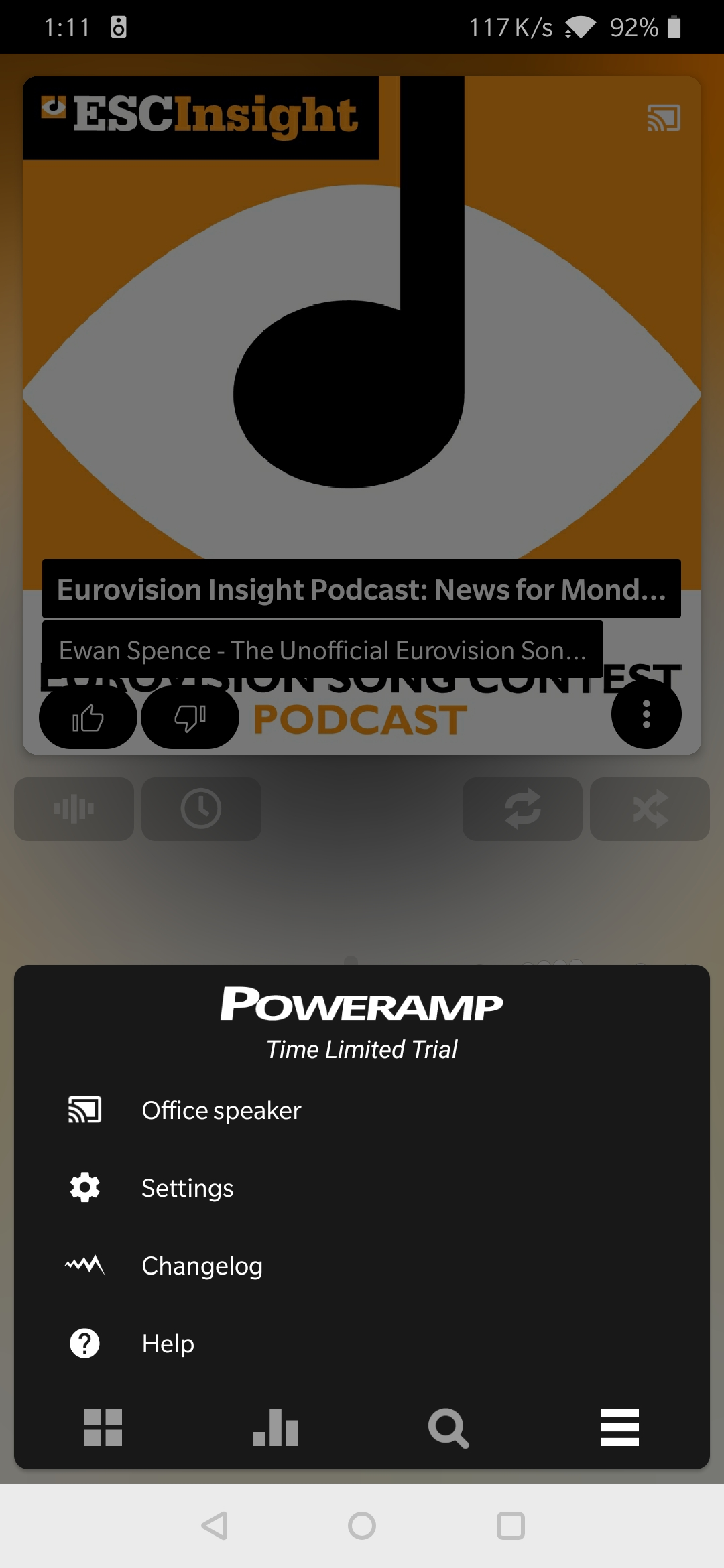 Poweramp adds Chromecast support and Google Assistant voice