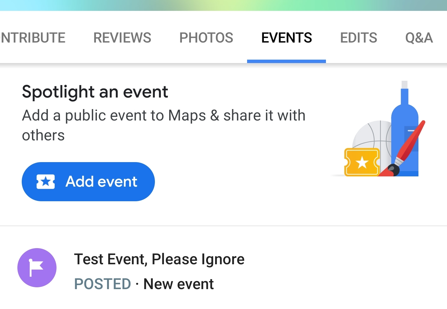 Google Maps rolling out (broken) public event creation to some users