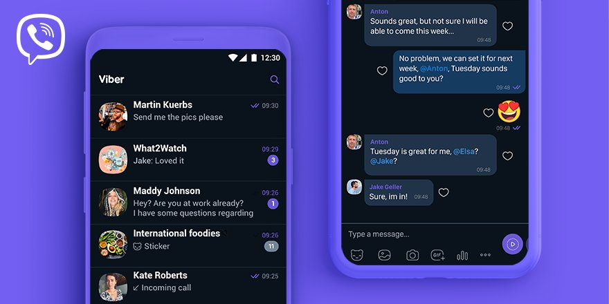 Viber gets dark mode in the latest update