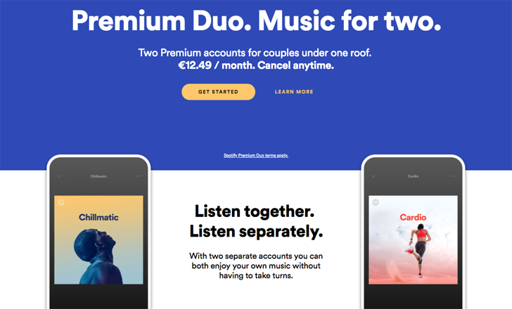 Spotify is going after couples with affordable Premium Duo plan