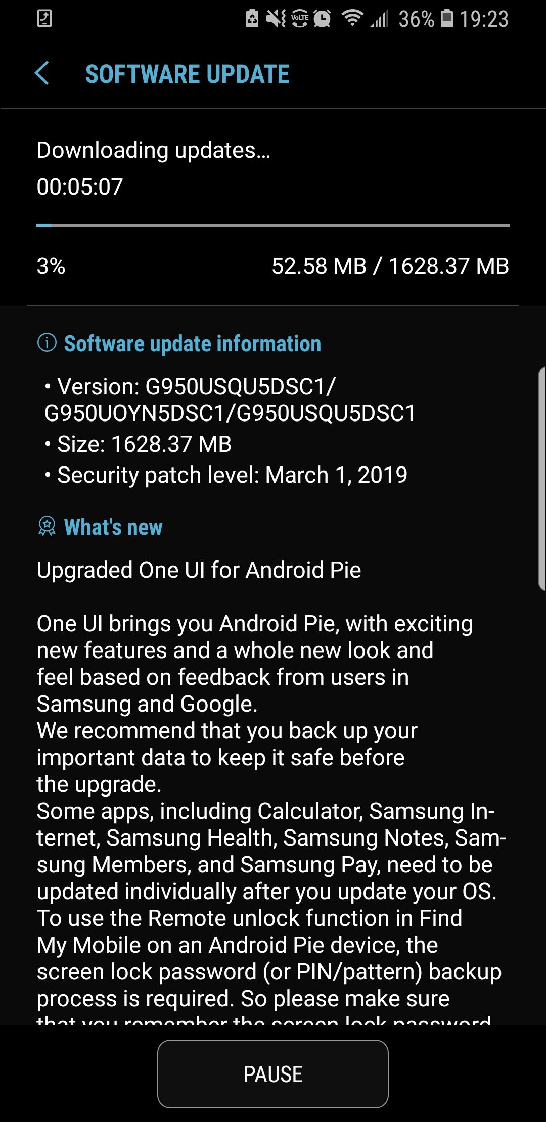 Update: Unlocked] Android 9 Pie rolling out to the Galaxy S8, S8+