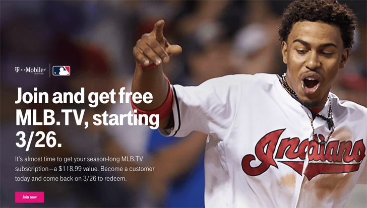 T-Mobile offers customers a free year of MLB.TV again, available on March 26