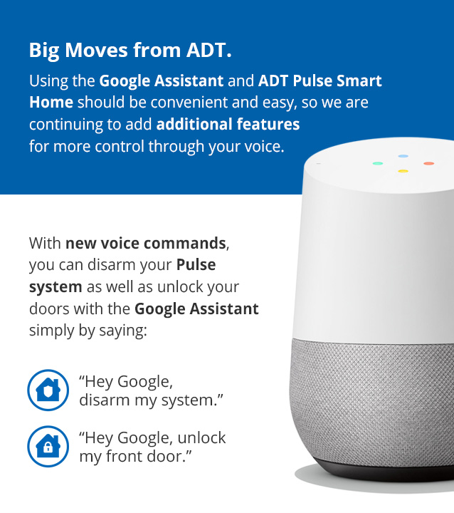 Google Assistant commands can now disarm ADT Pulse security systems