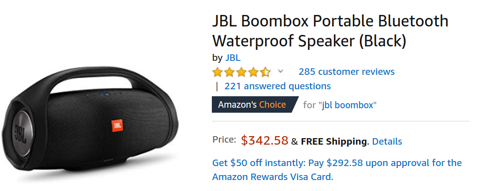 Get a JBL Boombox Bluetooth speaker for $343 ($107 off) from
