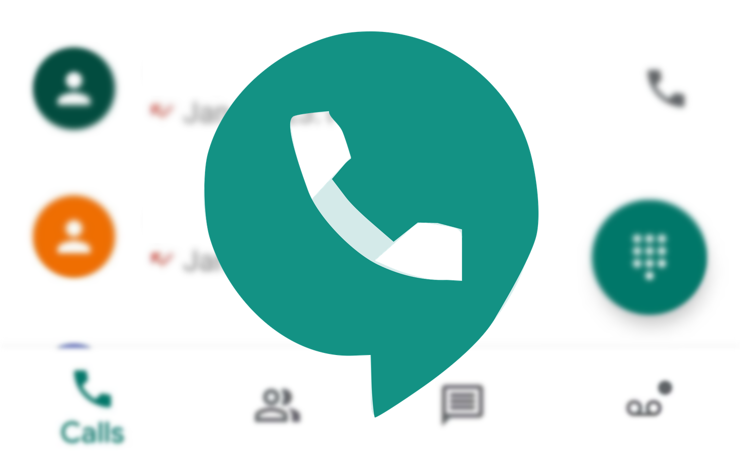 Revamped Google Voice web interface offers quick access to calls and settings