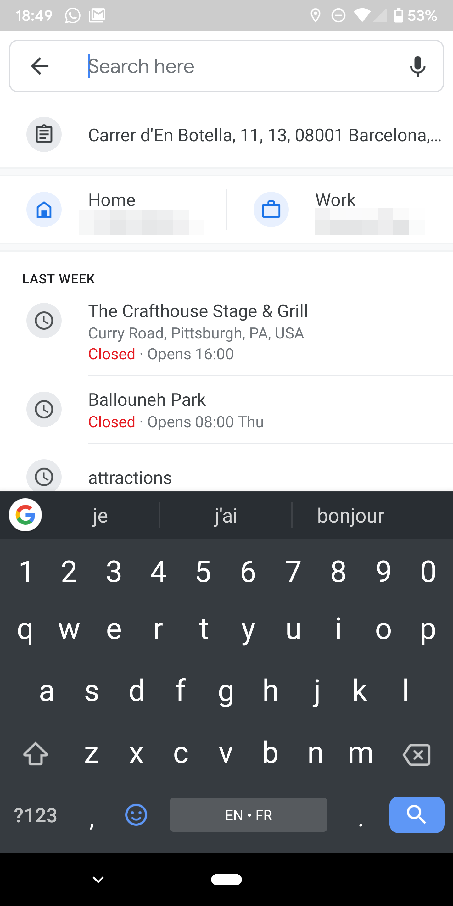 Google Maps automatically suggests pasting addresses from your clipboard