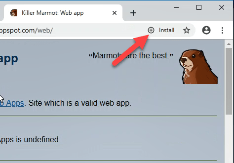 [Update: Coming in v76] Chrome on desktop platforms will soon show an Install button for Progressive Web Apps, Next TGP