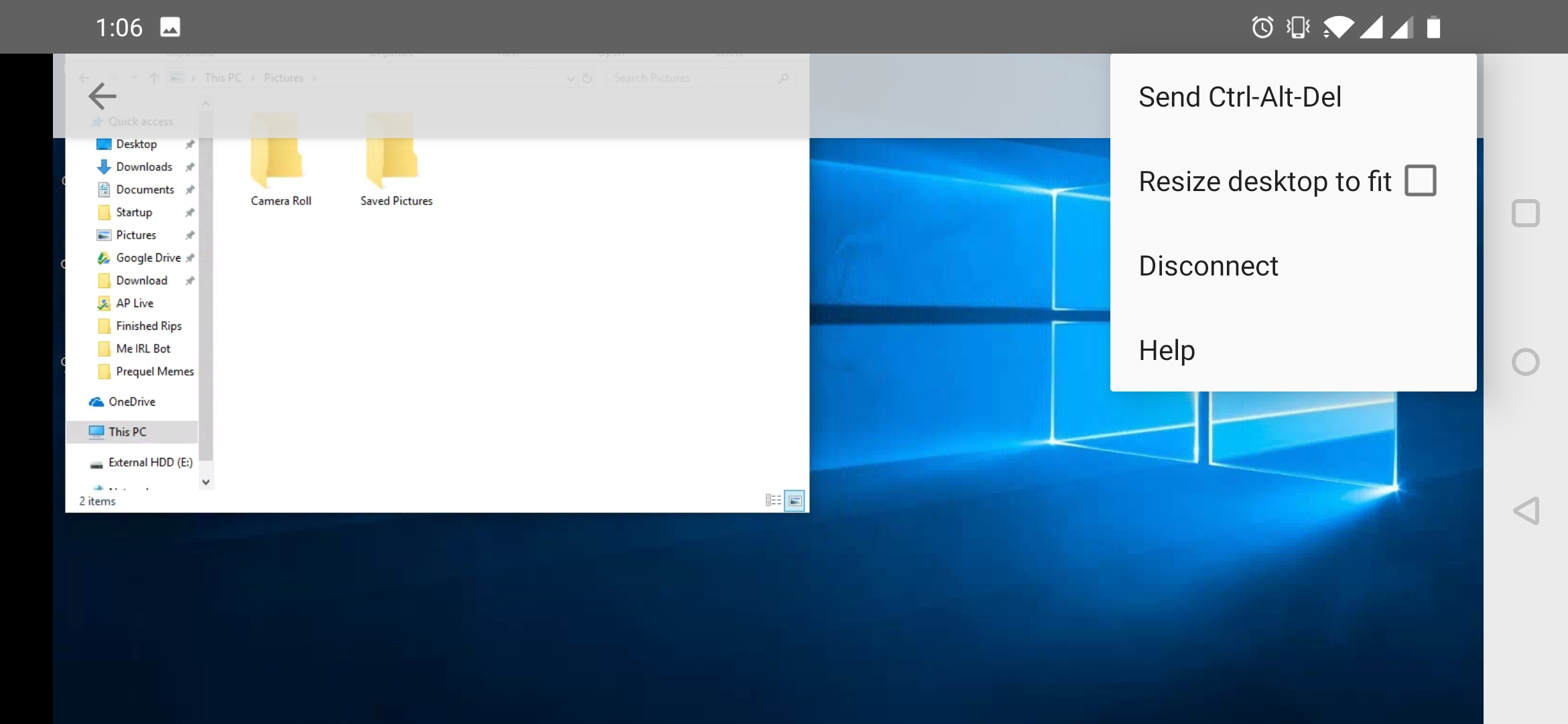 Chrome Remote Desktop v71 adds non-functional display resize