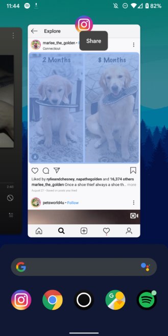 Update: Fixed] Selecting images in Android 10's app switcher
