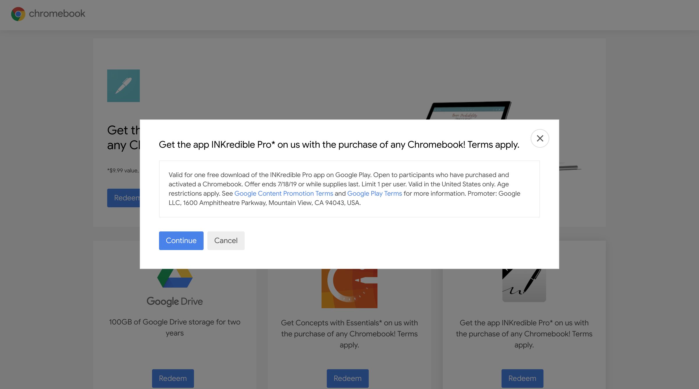 Update: Working, possibly] Reminder: Grab your Chromebook