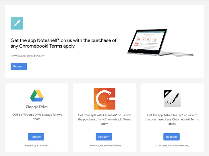 [Update: Working, possibly] Reminder: Grab your Chromebook freebies, including INKredible Pro and Noteshelf