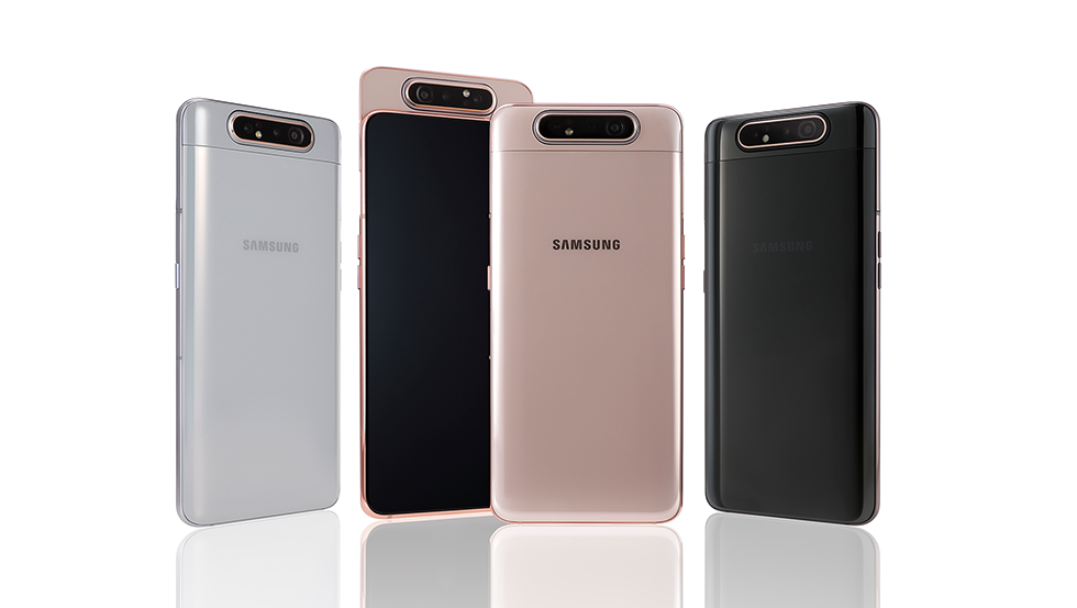 Samsung reveals the Galaxy A80 with a sliding, rotating 48MP