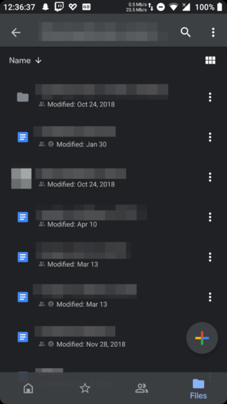 Update: Manual setting] Google Drive dark mode is showing up