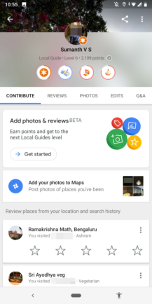 Google Maps to improve the Local Guides contribution process