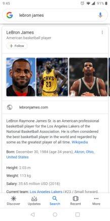 Google improves Knowledge Graph search cards: Material refresh, additional information, more tabs - Android Police 4