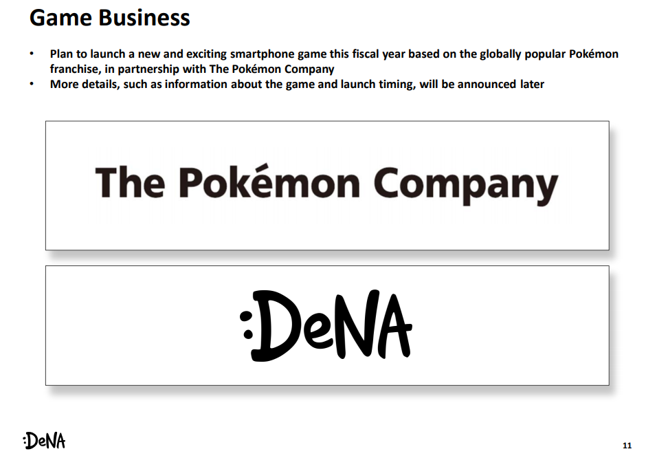 DeNA announces they're making a new Pokemon mobile title