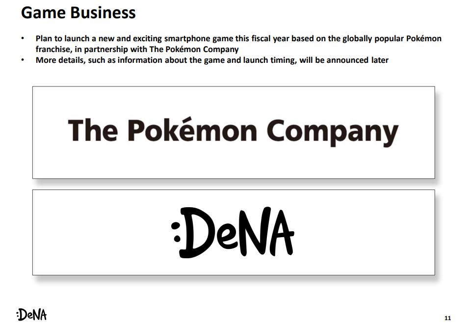 Pokémon Company and DeNA are working on a new Pokémon mobile game