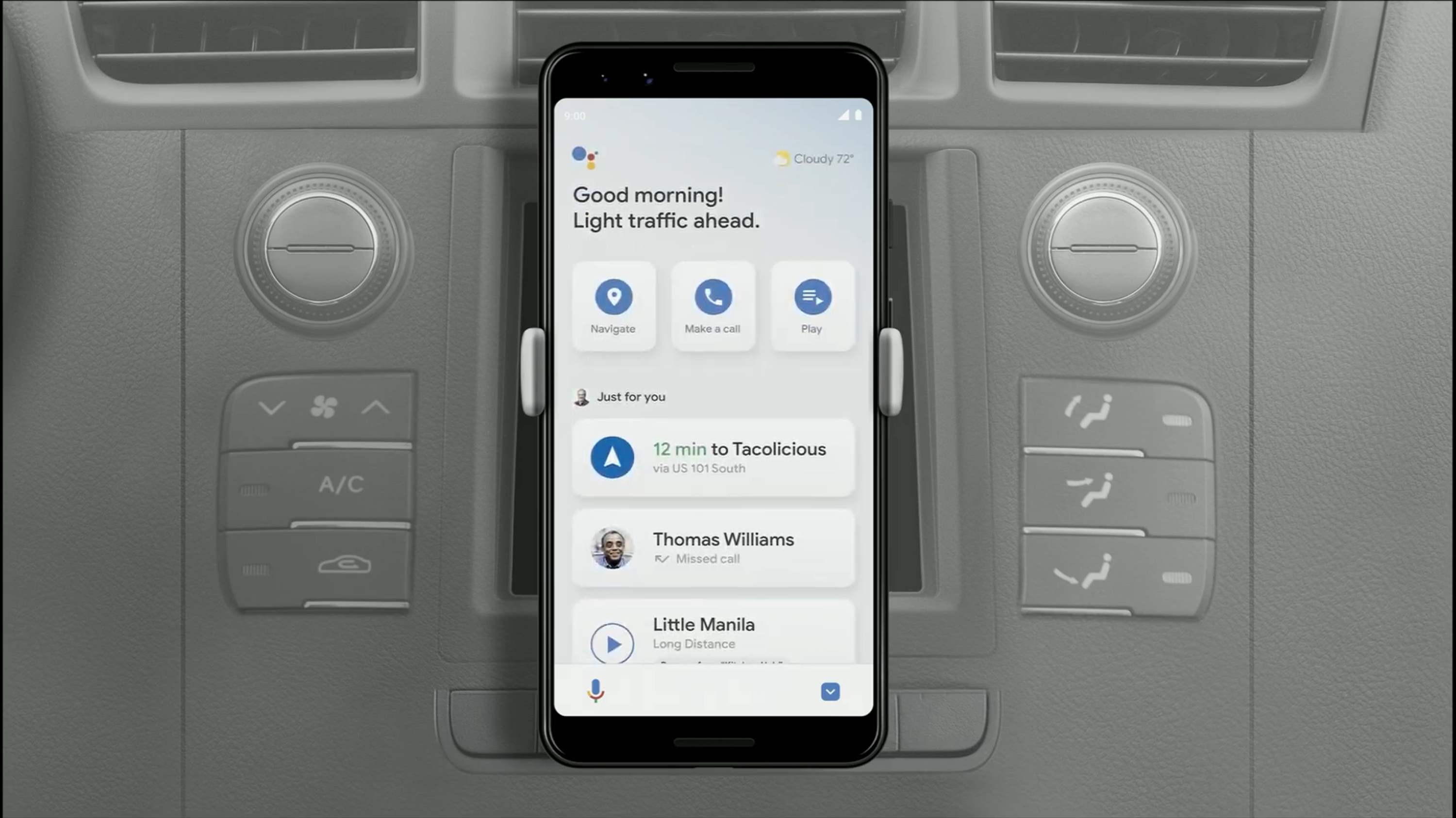 Update: Replacing Auto app mode] Assistant Driving Mode comes to