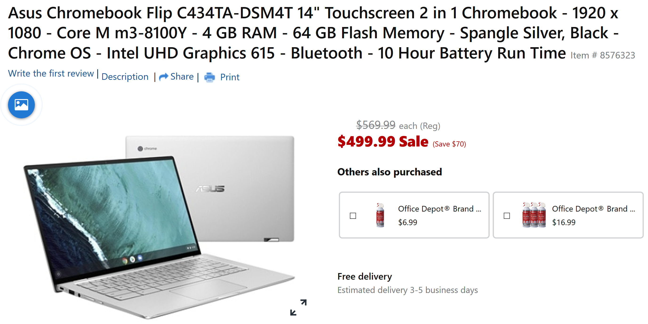 Asus Chromebook Flip C434 drops to $500 ($70 off) at Office