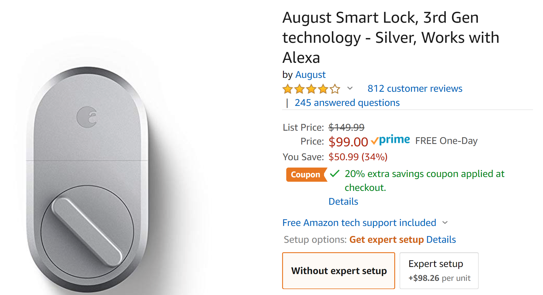 August Smart Lock is just $99 ($51 off) on Amazon right now