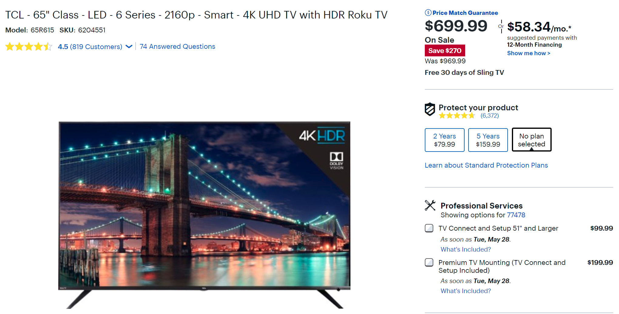 TCL's highly rated 6-series 4K HDR TVs on sale — 55