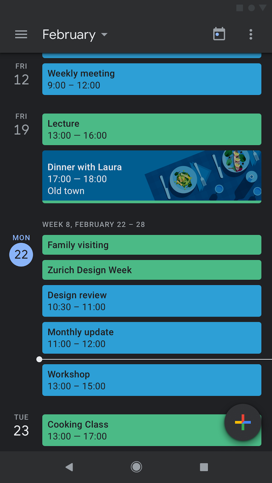 APK Download] Google Calendar gets the dark mode treatment