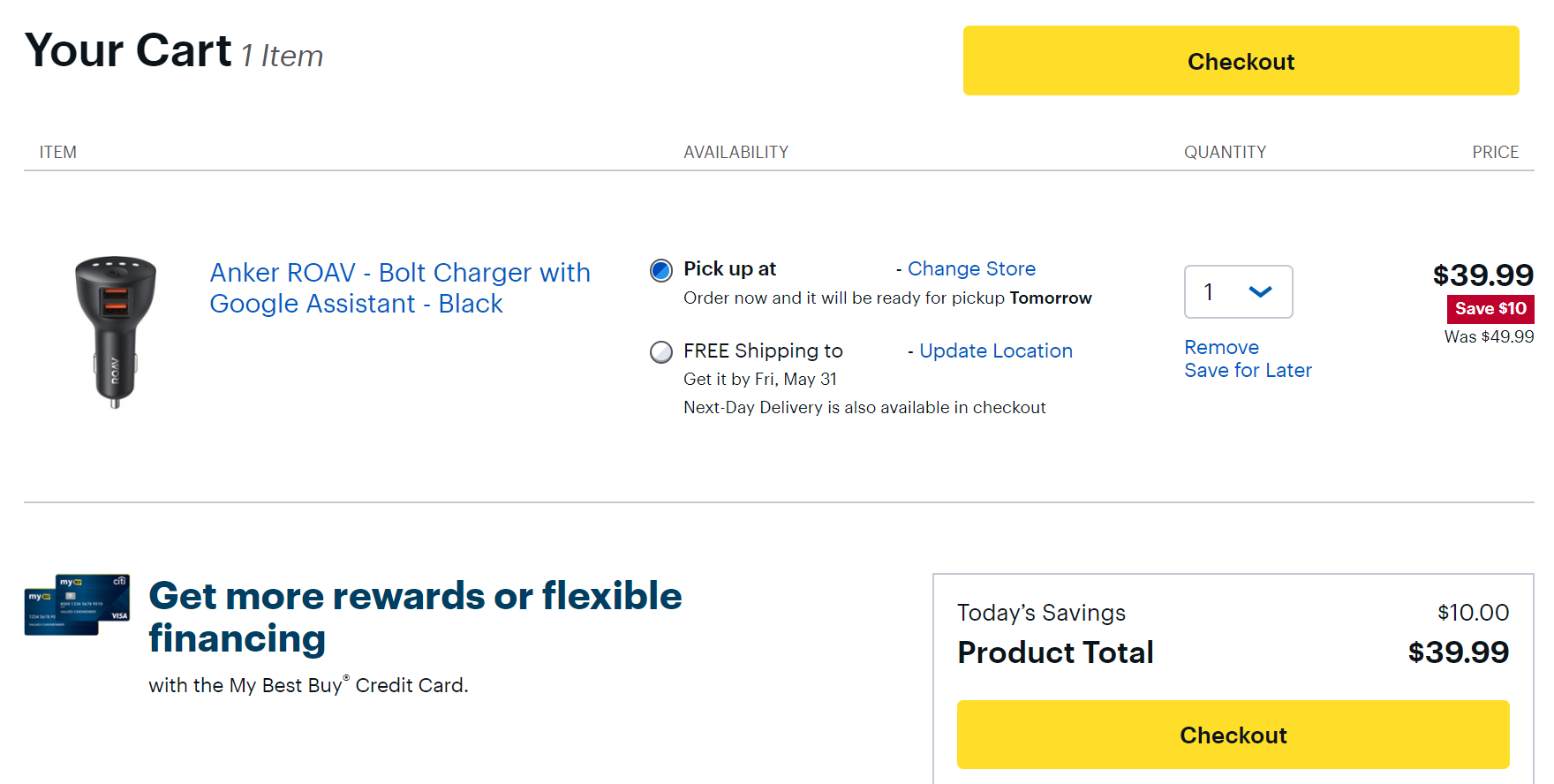 Anker Roav Bolt marked down to $40 (20% off) at Best Buy in