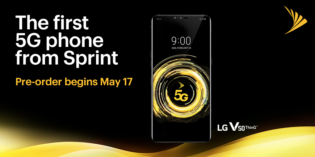 LG V50 5G going up for pre-order at Sprint, 50% off lease