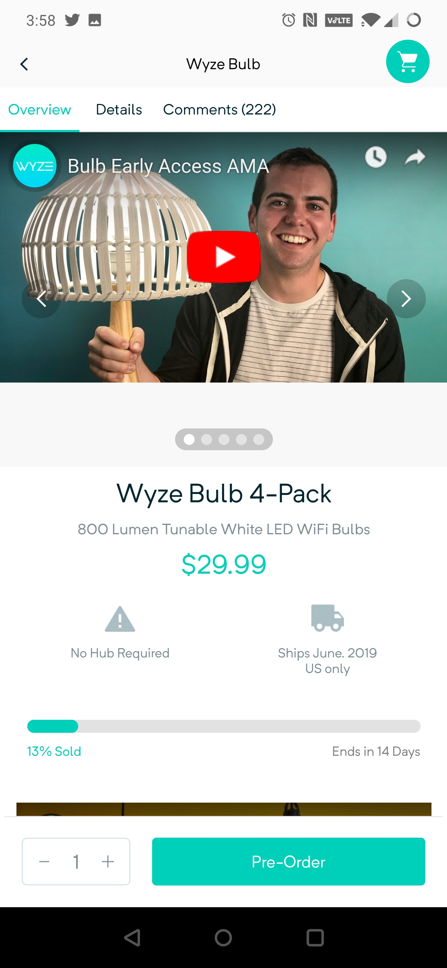 Wyze's upcoming smart light bulb is Assistant-compatible and