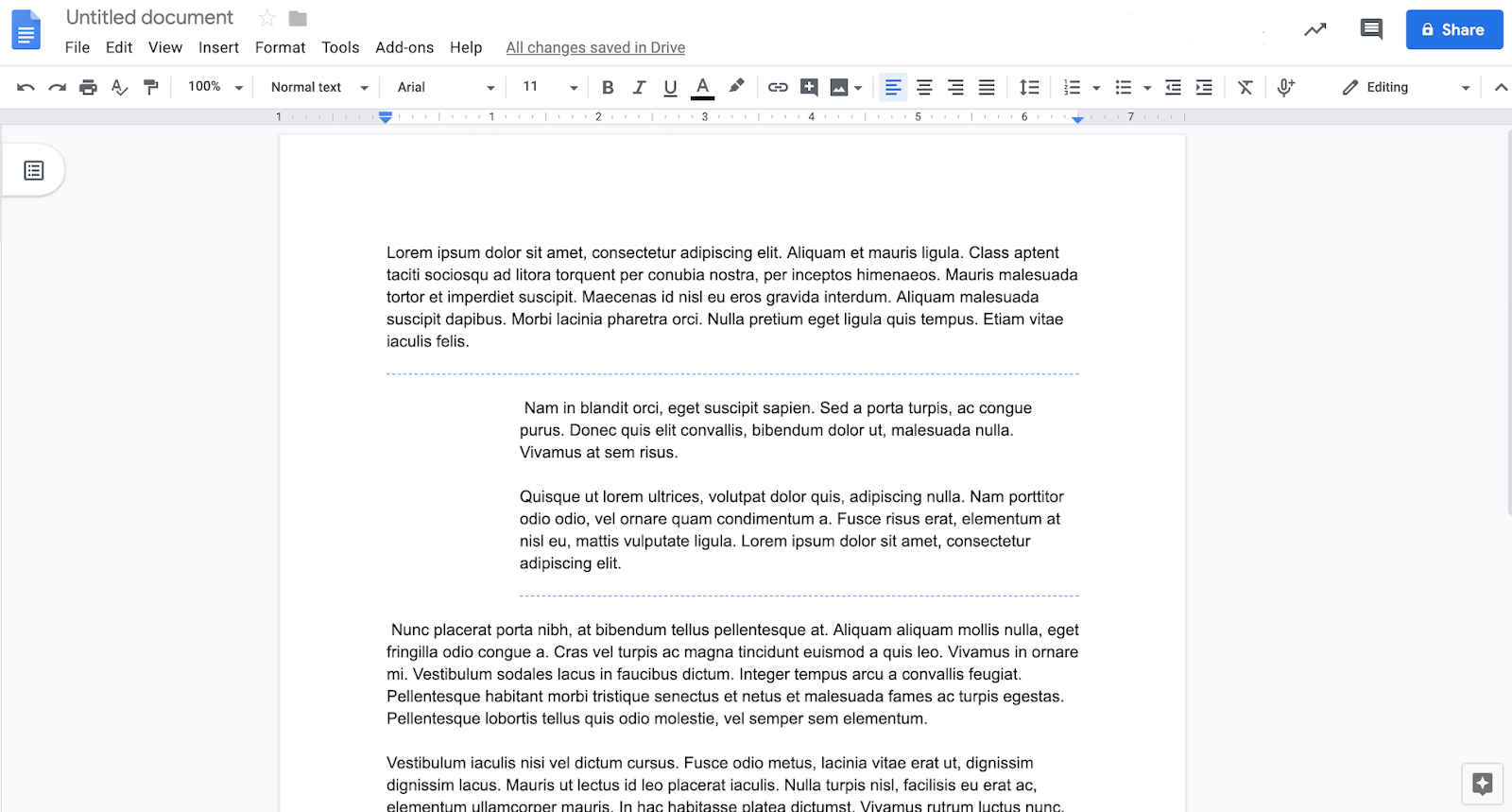 Google Docs finally lets you adjust margins per section and add section breaks