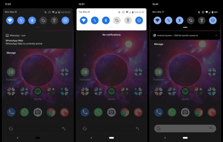 Android Q has an alternative, hidden, and sort of broken dark mode