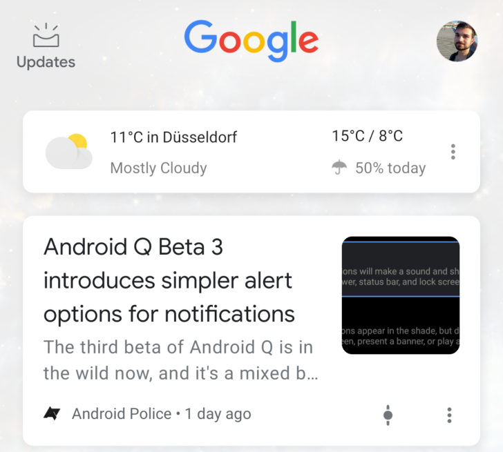[Update: Rolling out] Google tests a more compact Discover feed design with no topic bubbles