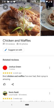 Google Maps helps you choose popular dishes when checking out a restaurant, Next TGP