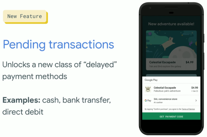 QnA VBage The Play Store gives users a new cash payment option